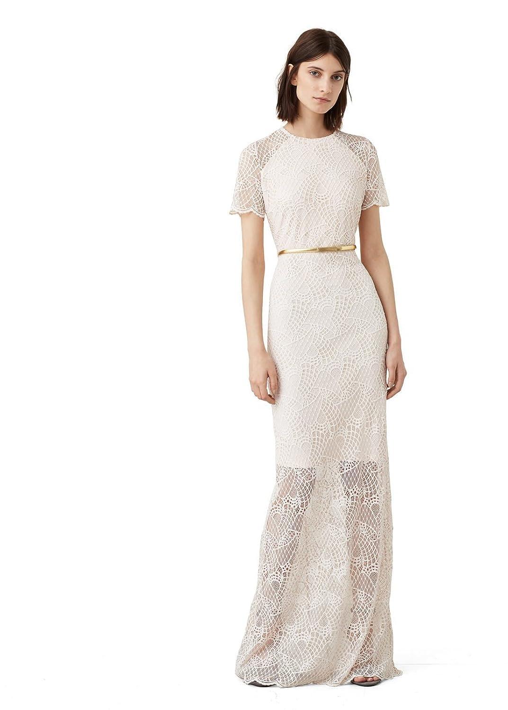MANGO - Guipure Dresses Evening gown - Size:12 - Color:Light Pink