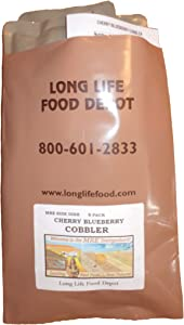 Long Life Food Depot MRE Cherry Blueberry Cobbler - 8 Pack