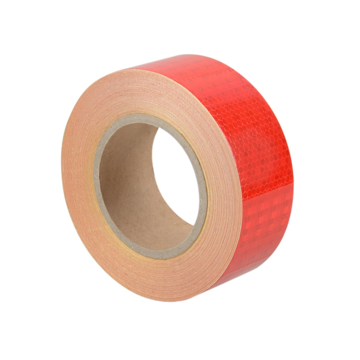 2'' x 150 Feet Reflective Safety Tape Red Hazard Caution Adhesive Stickers, Reflector Tape Red For Trailers