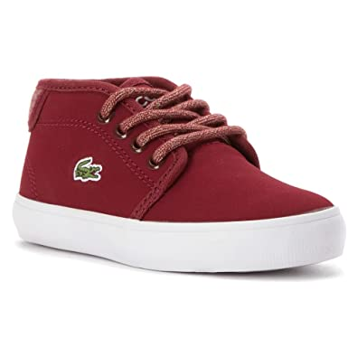 85e4ae132 Lacoste Kids  Ampthill Mid Sneaker Toddler (Dark Red Dark Red 10.0 M)   Amazon.co.uk  Shoes   Bags