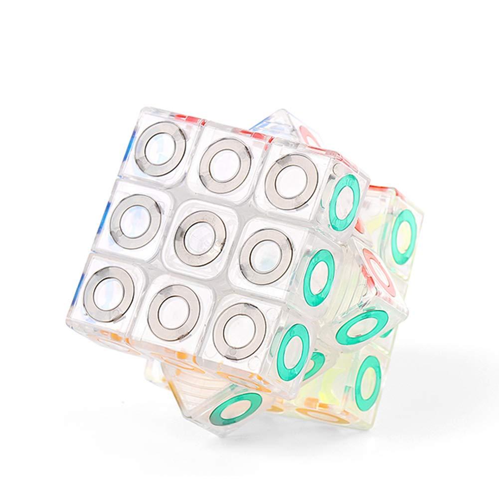JIAAE 3X3 Crystal Rubik's Cube Professional Intelligence Competition Rubik Children Puzzle Toy