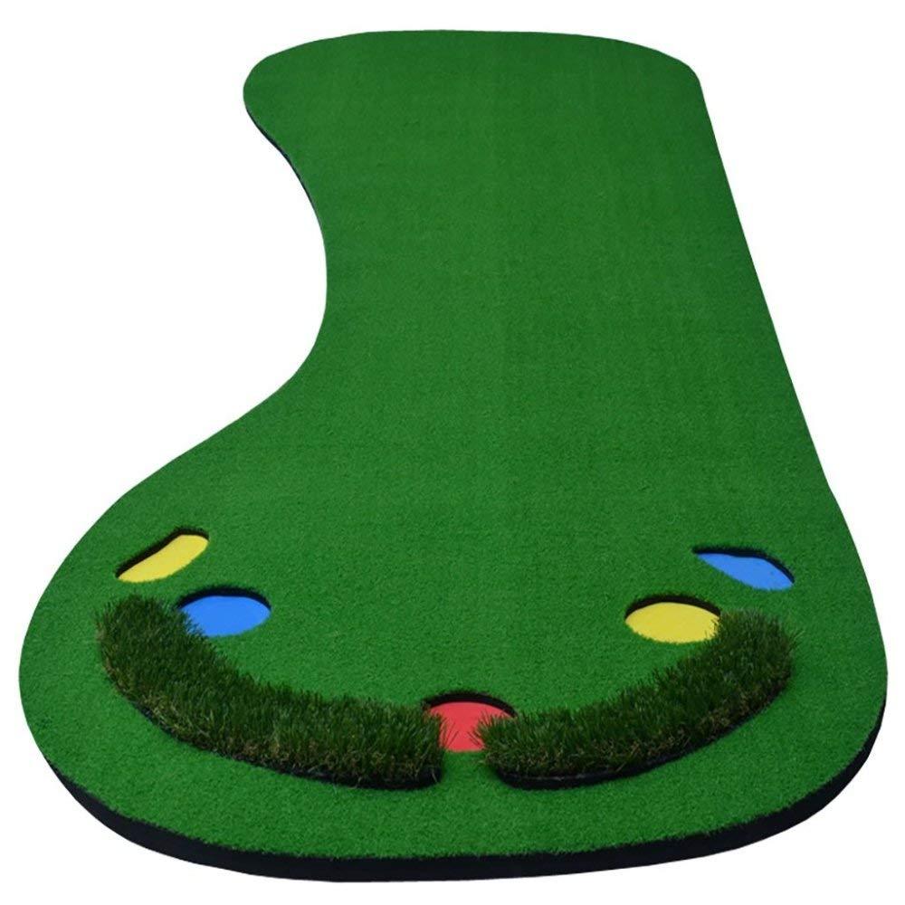 WUマットゴルフミニゴルフ屋内パター練習用ポータブルフット形状、118 * 35.4インチ、A、ワンサイズ   B07MGZWXSC