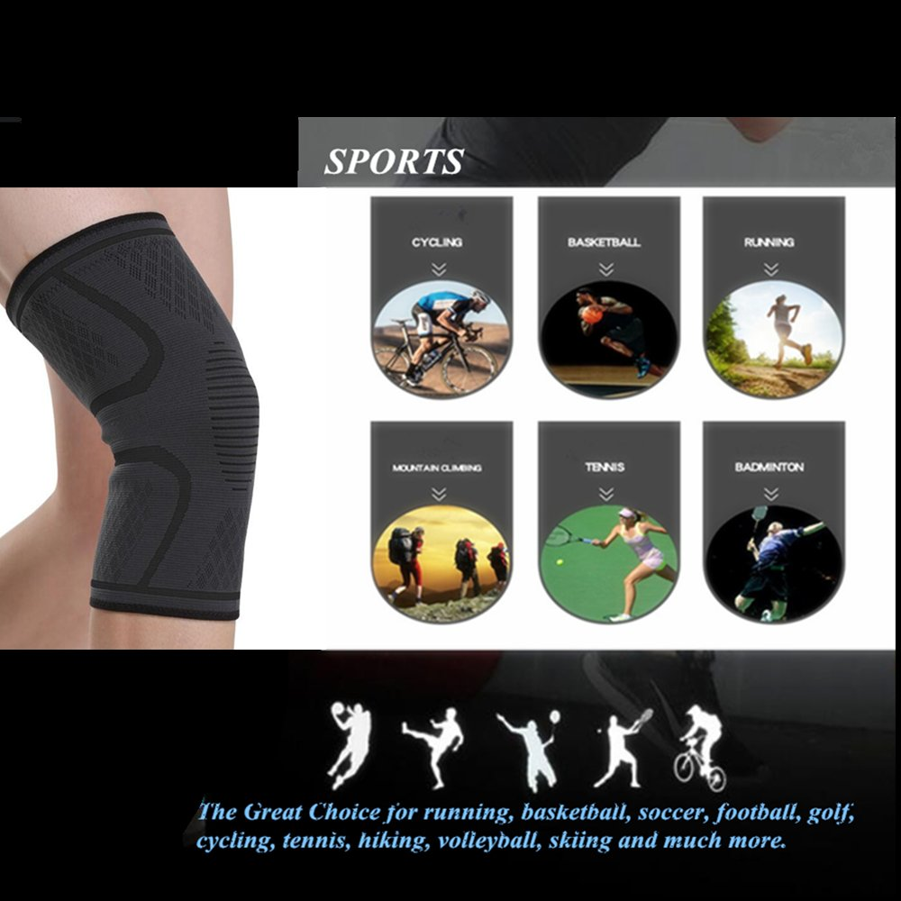 Boer Compression Knee Sleeve Brace Support For Basketball Football Golf Soccer Tennis Footbalrunning 1 Pair Sports Outdoors