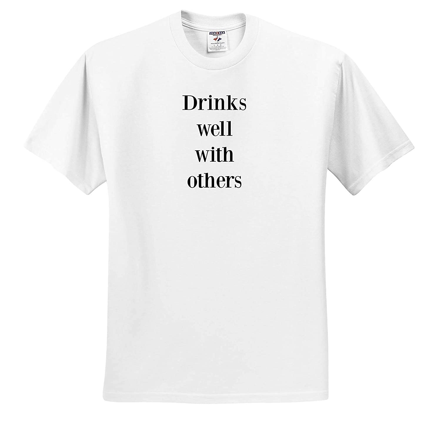 ts/_317840 Image of Drinks Well with Others Quote Adult T-Shirt XL 3dRose Gabriella-Quote