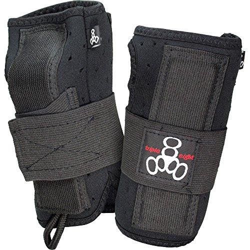 Triple 8 Undercover Snow Wrist Guards (Black, Medium)