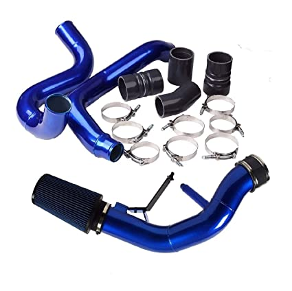 yjracing Turbo Intercooler Pipe with Boot & Cold Air Intake Kit Fit for 03-07