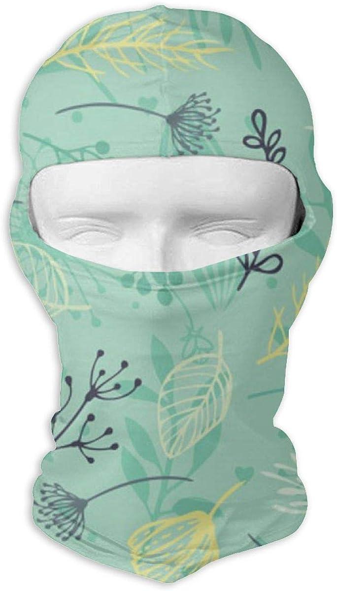 CAClifestyle Plant Leaves Pattern Background Unisex Windproof Balaclavas Full Face Mask Hood
