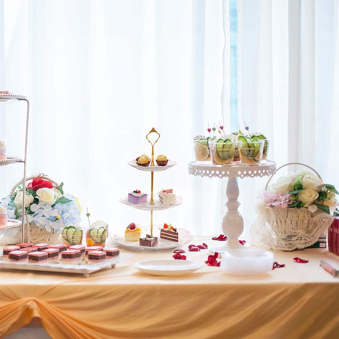 K/äseplatte Cupcake Dessert St/änder Etagere bausatz Stange Metallstab Kuchenst/änder Party Hochzeit Deko Tortenst/änder Keks Servierst/änder Zedela Etagere 3 St/öckig f/ür Cupcake Obst