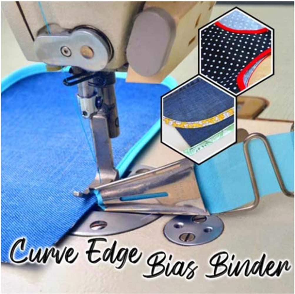 Ruffler Presser Foot Quilt Binder Attachment 22mm, 1 Pcs Curve Edge Bias Binder Knitia 5 Curve Edge Bias Binder Sewing Master