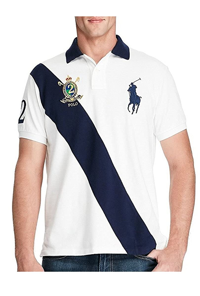 4a792c2c3 Polo Ralph Lauren Men's Banner Short Sleeve Mesh Polo Shirt at Amazon Men's  Clothing store: