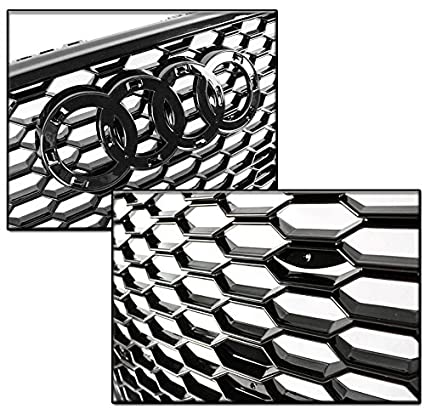 Amazon Com Zmautoparts Honeycomb Mesh Hex Grille Gloss Black For