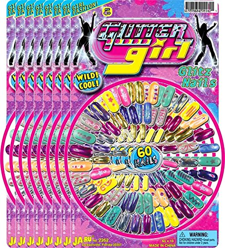 Ja-Ru Glitter Girl Glitz Nails Party Favor Bundle Pack