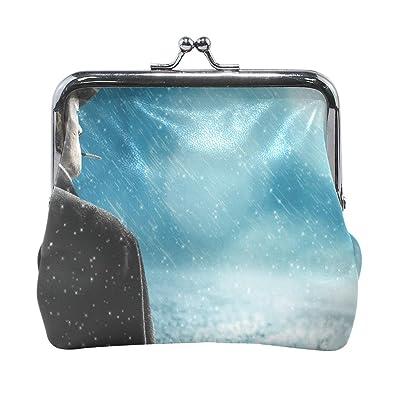 Amazon.com: Monedero de piel con diseño de día de lluvia ...