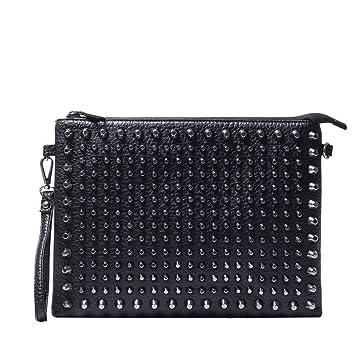 f386192139 Rivetto cuoio cinturino in pelle borsa Business pochette con rigido per  uomini: Amazon.it: Sport e tempo libero