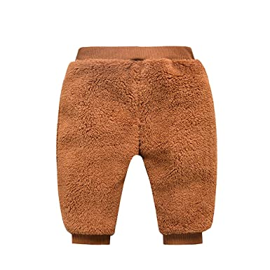 BOZEVON Hiver Pantalon Longue Enfants Bébé - Filles Garçons Épais Chaud  Confort Elastique Pantalon Leggings Vêtements  Amazon.fr  Vêtements et  accessoires b934822c319