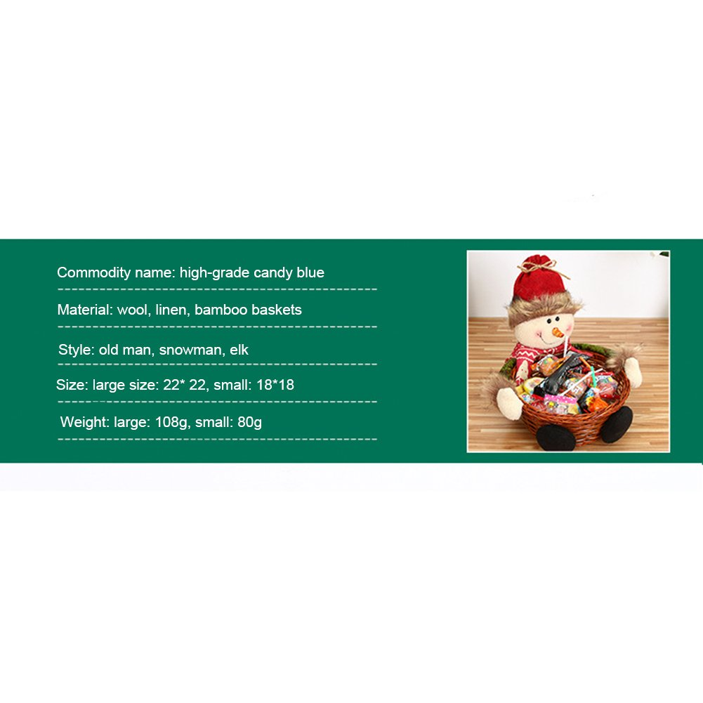 Dulces de Navidad tarro de caramelo cesta de almacenamiento de azúcar Contenedor de regalo de Navidad Santa Claus muñeco de nieve Elk caramelo envase de ...