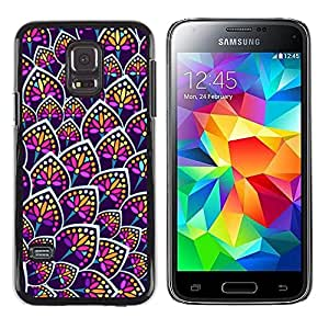 iKiki Tech / Estuche rígido - Flower Neon Colorful Uniform Pattern - Samsung Galaxy S5 Mini, SM-G800, NOT S5 REGULAR!