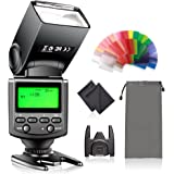FOSITAN T670 Flash Speedlite High Guide No.38 with LCD Display for Canon Nikon Sony Panasonic Olympus Pentax DSLR Camera with Standard Hot Shoe Sony Mi Hot Shoe