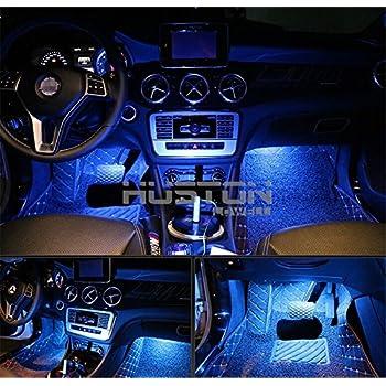 Amazon.com: Onepalace 4Pcs Car LED Interior Underdash Lighting Kit ...
