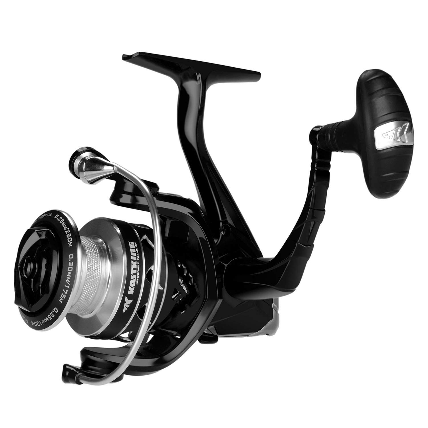 KastKing Valiant Eagle Spinning Fishing Reel, 6.2 1 Gear Ratio, Up to 22 Lb Drag, Carbon Fiber Frame Rotor, 10 1 High Performance BB.