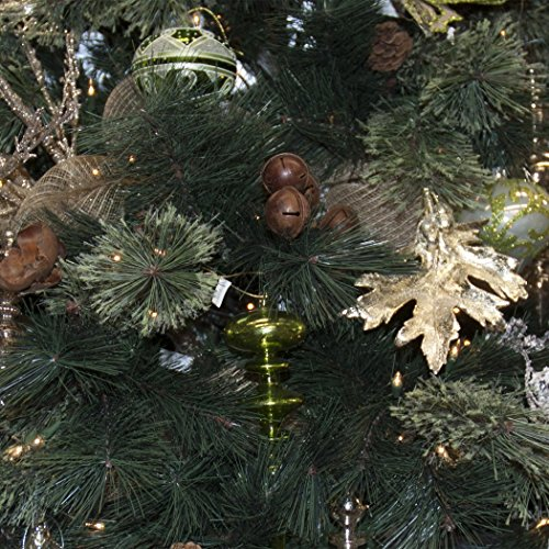 Set of 14 Large Christmas Tree Ornaments, Antique Green Stained Glass, Heirloom Quality by Langdon Mills (Image #4)