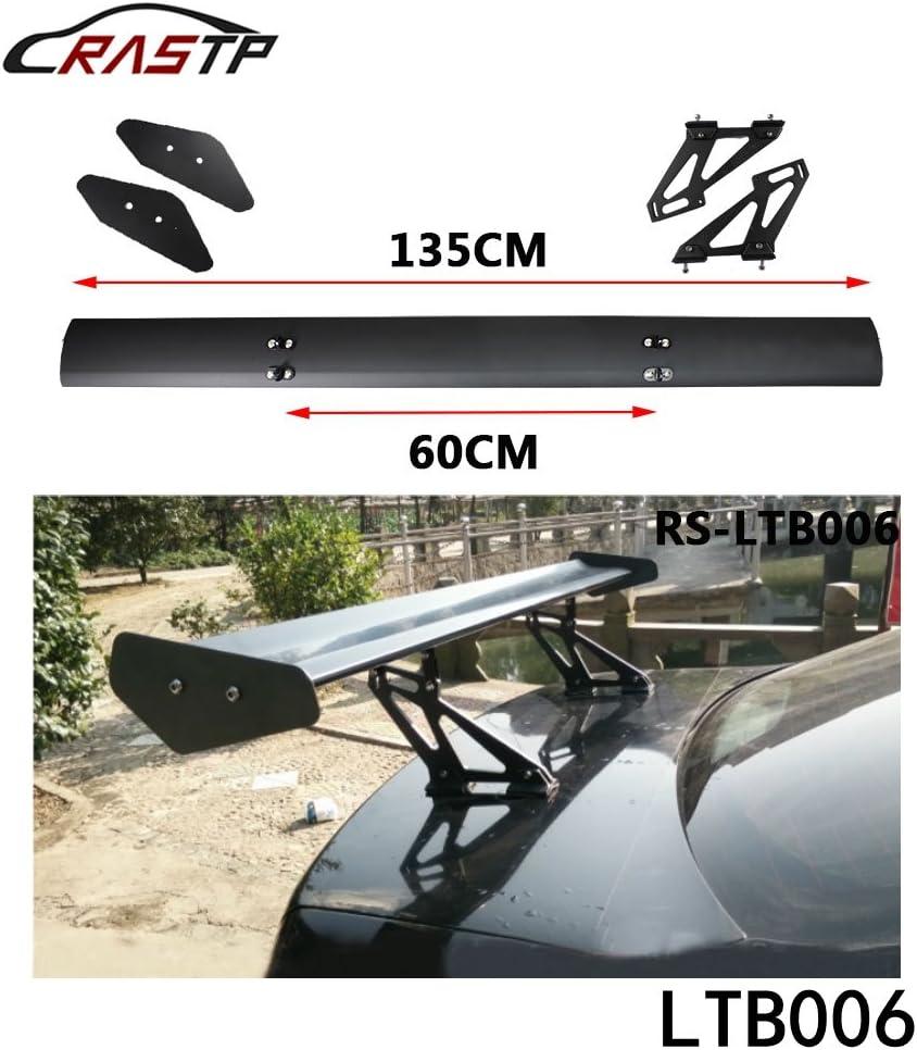 VEVOR Universal GT Wing Spoiler 43 Inch//110CM Adjustable Angle Lightweight Aluminum Rear Spoiler Wing Black Double Deck