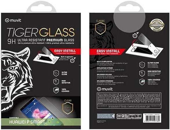 Muvit Tiger Glass - Protector de Pantalla para Huawei P Smart (Vidrio Templado Curvo): Amazon.es: Electrónica