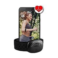 Bluetooth 4.0y ANT + Correa de Pecho para Runtastic, Wahoo, Strava App, para iPhone 4S/5/5C/5S/6/6s/6+ Android–berryking Premium Medidor de frecuencia cardíaca/Sensor Ant + & Bluetooth 4.0para Garmin, TomTom, iPhone, Android Heart Beat, color Negro , Heartbeat (cinturón de pecho)