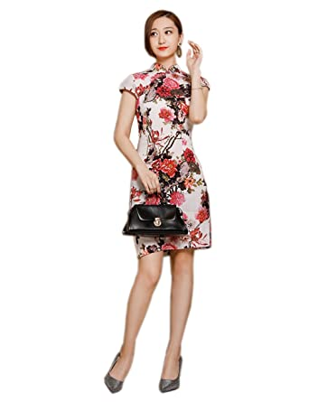 Women\'s Pencil Dress Stand Collar Knee Length Elegant Midi Stretchy ...