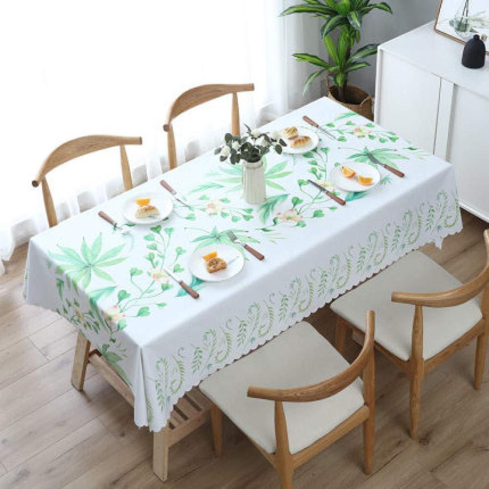WJJYTX Plastic Table Covers Wipe clean,Square Wipe Clean Tablecloth Rectangular Waterproof Vinyl for Garden Kitchen Outdoor or Indoor 繁花-140 * 220_B