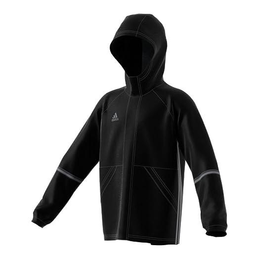 7566ddbf0 Amazon.com  Adidas Condivo 16 Youth Soccer Rain Jacket M Black-Vista ...