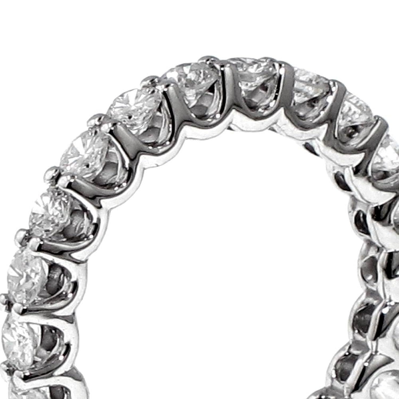 14k white gold round diamond eternity anniversary