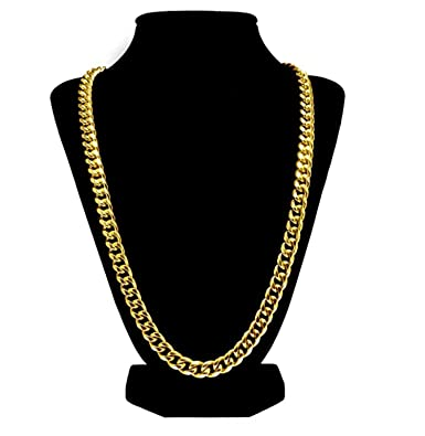 c4bbc51d734b5 Luxury 24k Gold Plated Cuban Link Chain Necklace For Men + Gift Case ...