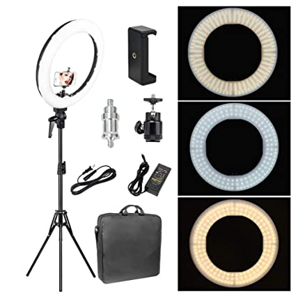 25c4b6505b7 Amazon.com : Zomei 12-inch Inner/14-inch Outer LED Ring Light 36W ...