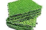 Flooring Tiles (Artificial Grass Turf Interlocking Flooring Tiles, 10 Square Feet - Garden Essentials).