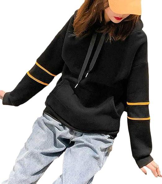 6026cfb3de68b Cromoncent Women s Winter Thick Fleece Hooded Contrast Color Pullover  Sweatshirt at Amazon Women s Clothing store