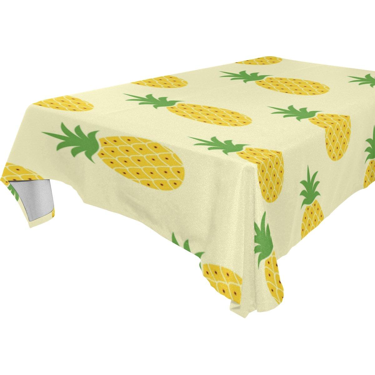 Laランダムキュート夏パイナップルテーブルクロスダイニングルームピクニックテーブル布洗濯可能テーブルカバーポリエステルAssortedサイズ1 60x90 inch LRZB00495 B079PVRKJX   60x90 inch