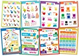 Educational Posters for Kids - Size 17x22 (Toddler Set)