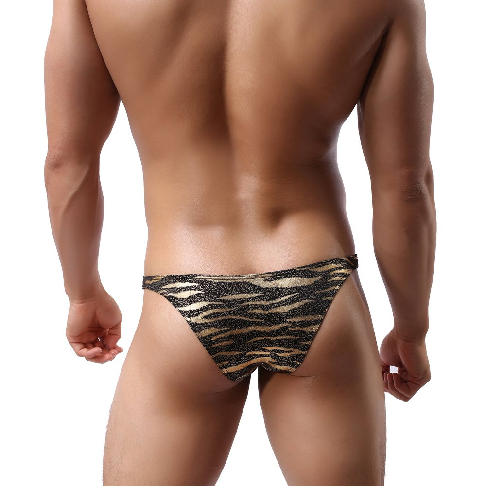 9d6c504fe07 Galleon - MuscleMate Premium Hot Men s Thong Butt Lift Leopard Print G-String  Comfort Thong Low Raise Underwear (XL