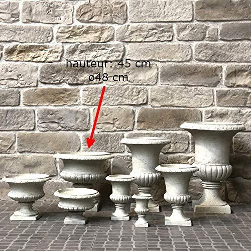 Chemin_de_campagne - Vaso da Giardino con Colonna, Altezza Tondo, Diametro 48 cm