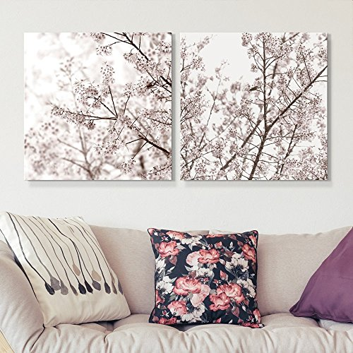 2 Panel Square Cherry Blossom in Spring x 2 Panels