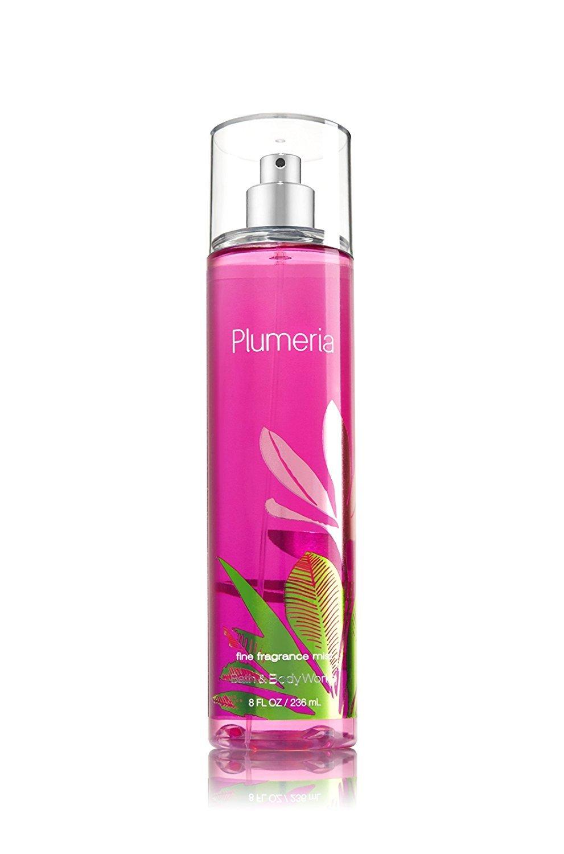 Bath & Body Works Signature Collection Plumeria Fine Fragrance Mist, 8 Fluid Ounce