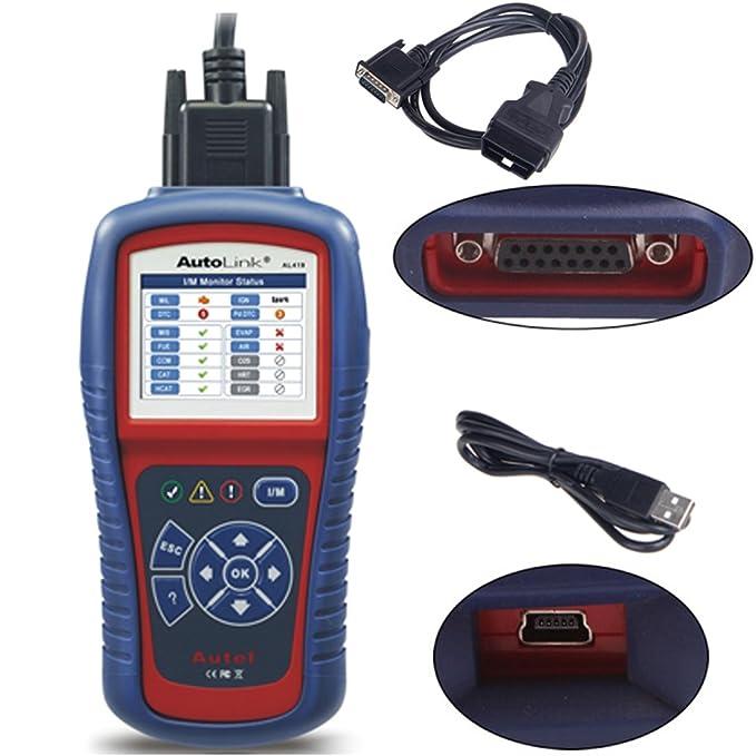 Autel Autolink AL419 Herramienta de Diagnosis Multimarca Universal OBD 2 Escáner para Borrar Error con Pantalla a Color y Sugerencias de Código para la ...