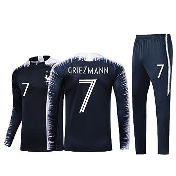 ZWXYA FFF Camiseta de Fútbol Jersey francés 2018 Niños Adultos,Griezmann,120-130CM: Amazon.es: Deportes y aire libre