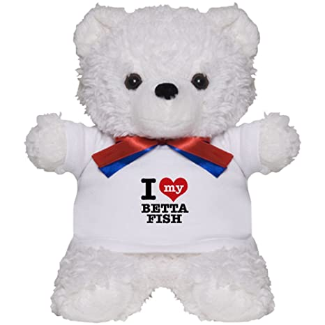 Amazon Com Cafepress I Love My Betta Fish Teddy Bear Plush