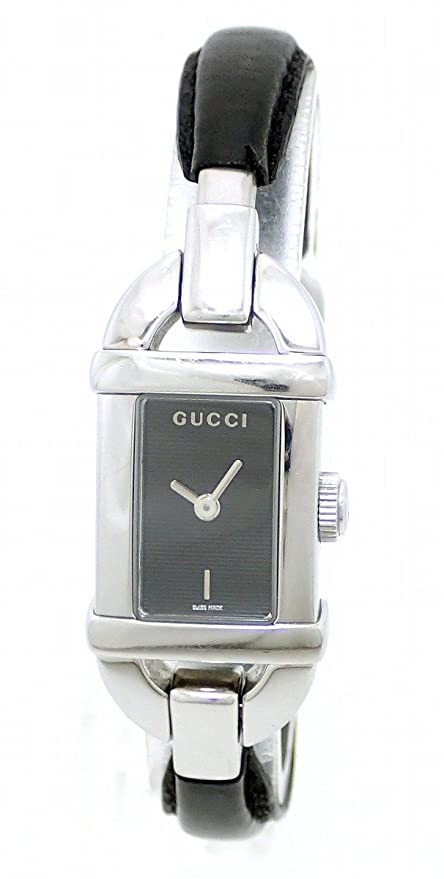 27b0839bd67 GUCCI WATCH 6800 SERIES BLACK DIAL BAMBOO WOMEN QUARTZ STAINLESS STEEL 6800L   Amazon.co.uk  Watches