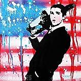 MR.BABES - ''American Psycho: Patrick Bateman (Christian Bale)'' - Original Pop Art Painting - Movie Portrait