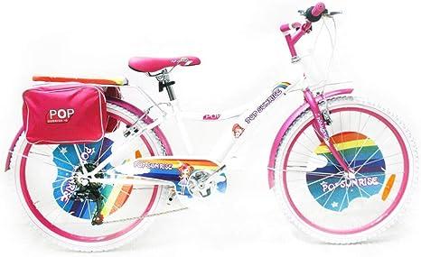 Reset - Bicicleta para niña, 24 Pulgadas, 6 V, Pop Sunrise, Blanca ...