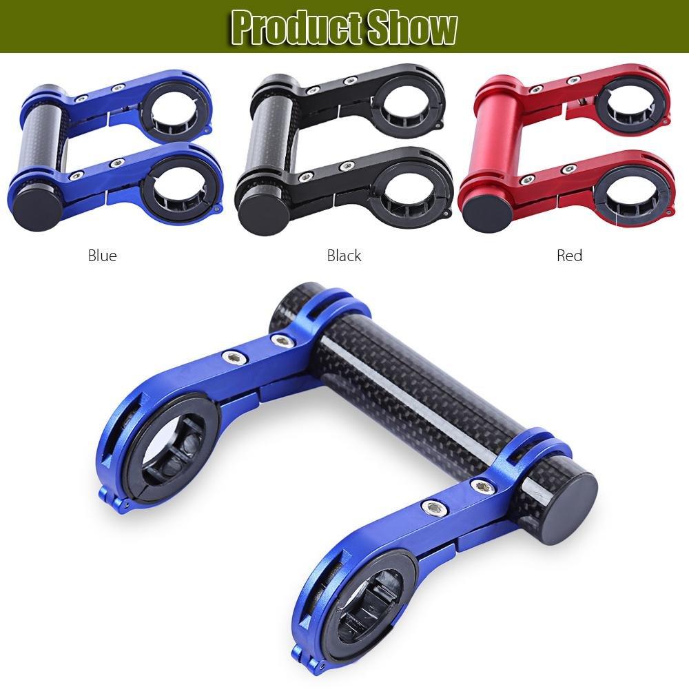 negro PAWACA 22,2/mm-31.8/mm manillar extensi/ón con dos de fibra de carbono soporte para tel/éfono Linterna soporte de bicicleta al aire libre de la l/ámpara
