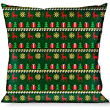 BUCKLE-DOWN, para el hogar o la oficina, en forma suéter punto verde/blanco/dorado/rojo, de Navidad
